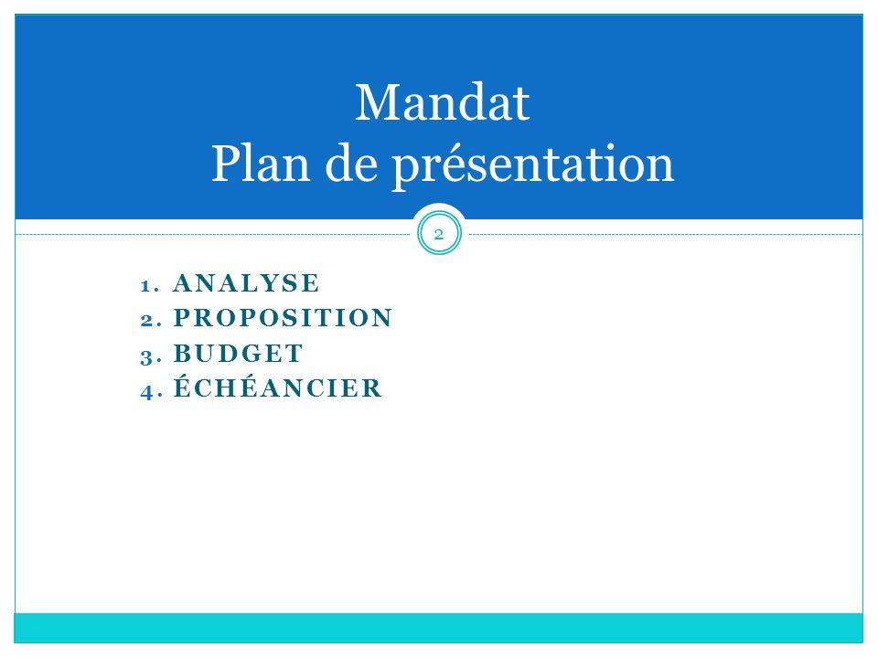 Mandat Plan de présentation