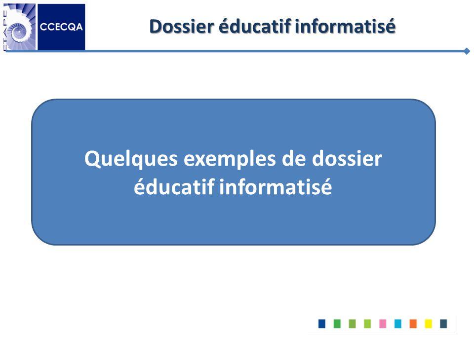 Dossier éducatif informatisé