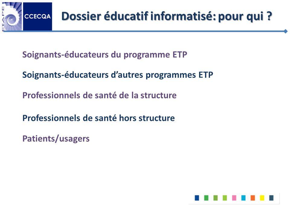 Dossier éducatif informatisé: pour qui