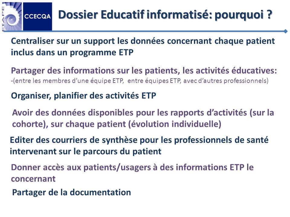 Dossier Educatif informatisé: pourquoi