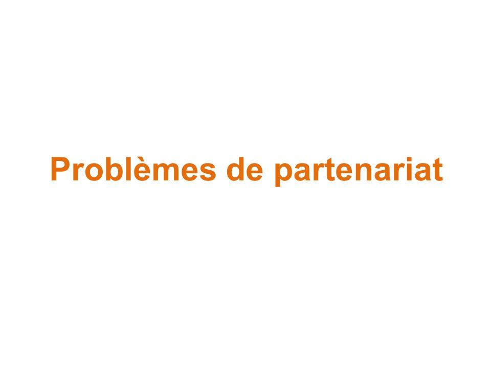 Problèmes de partenariat