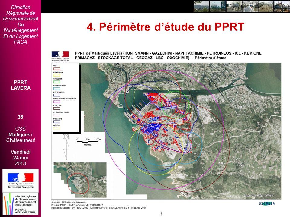 4. Périmètre d'étude du PPRT