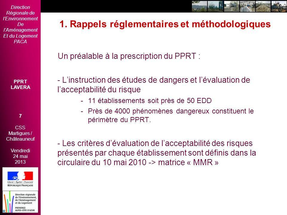 1. Rappels réglementaires et méthodologiques
