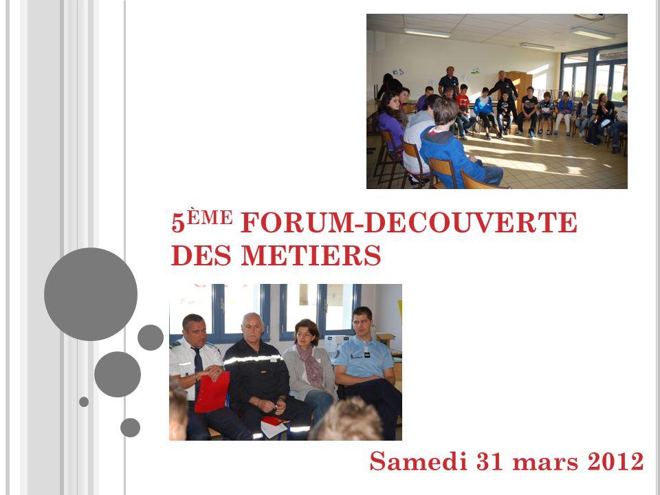 5ème FORUM-DECOUVERTE DES METIERS