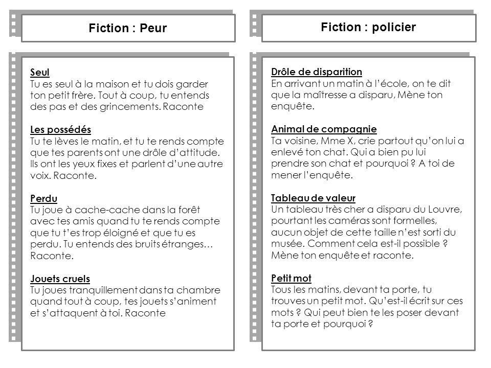Fiction : Peur Fiction : policier