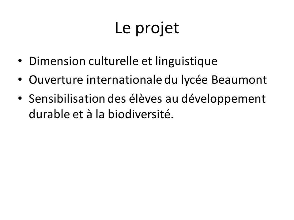 Le projet Dimension culturelle et linguistique