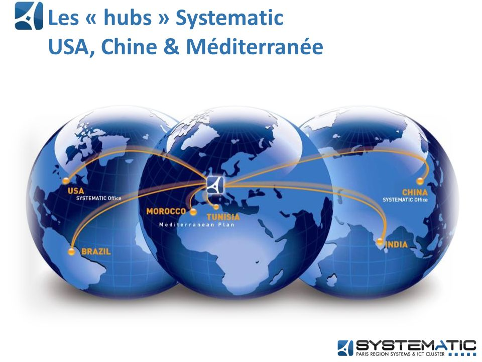 Les « hubs » Systematic USA, Chine & Méditerranée