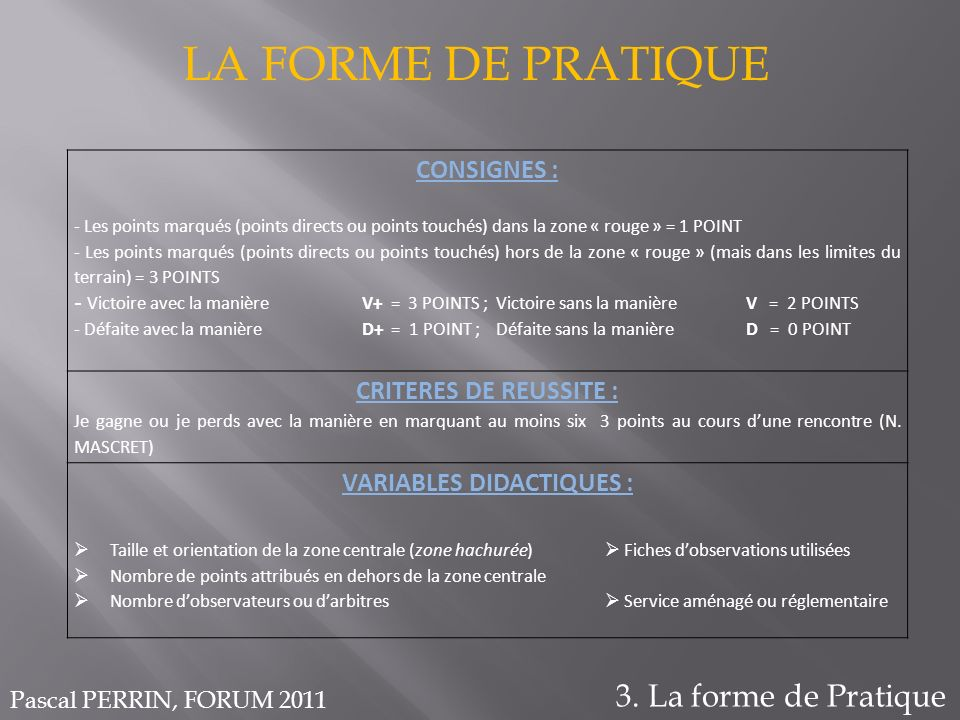 VARIABLES DIDACTIQUES :