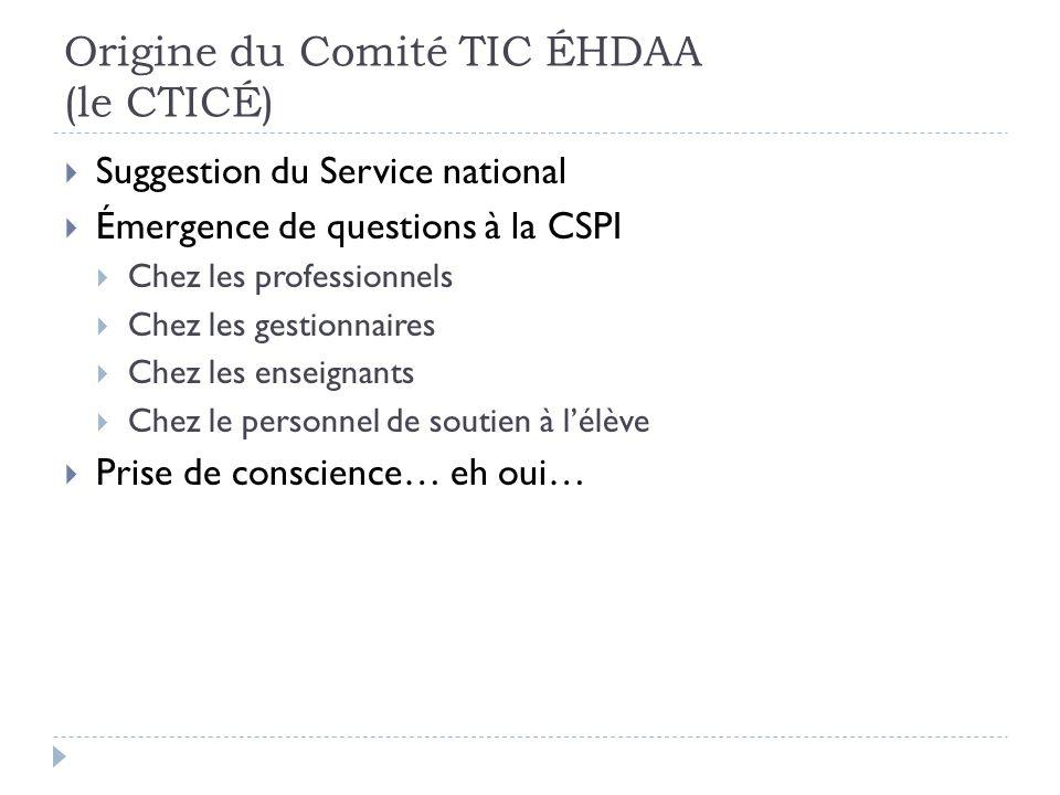 Origine du Comité TIC ÉHDAA (le CTICÉ)