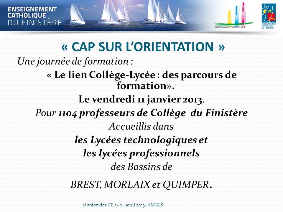 « CAP SUR L'ORIENTATION »