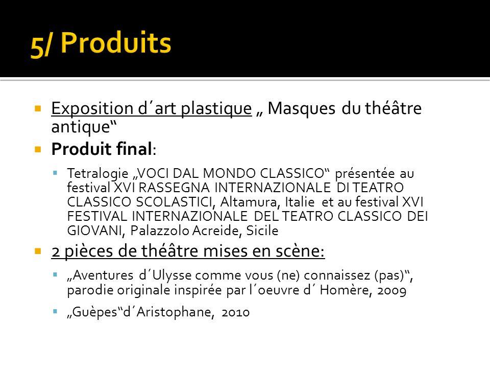 """5/ Produits Exposition d´art plastique """" Masques du théâtre antique"""