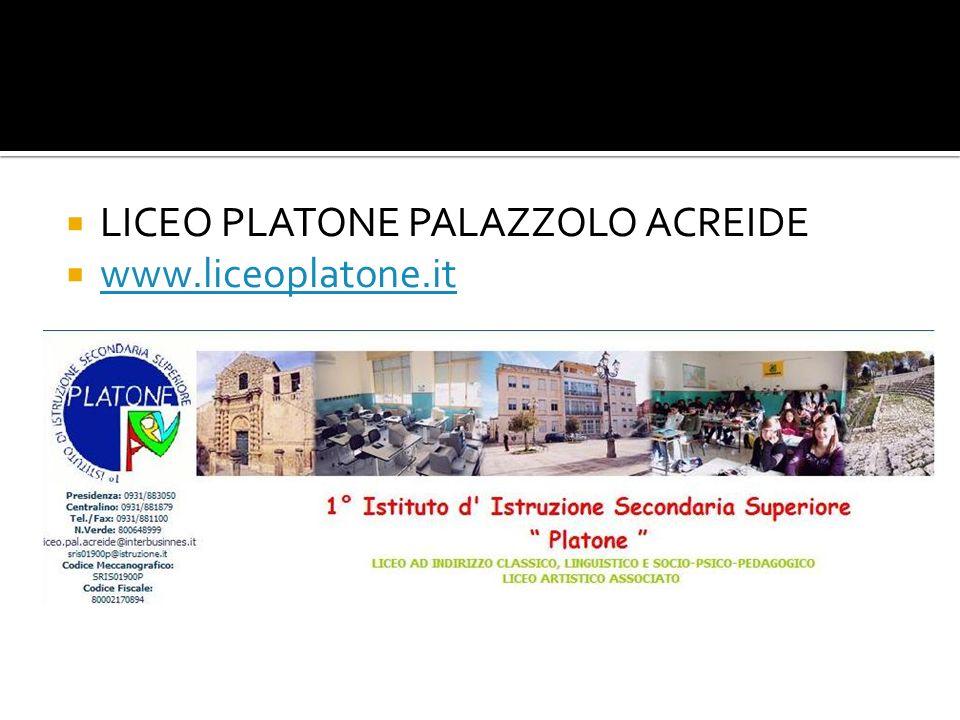 LICEO PLATONE PALAZZOLO ACREIDE