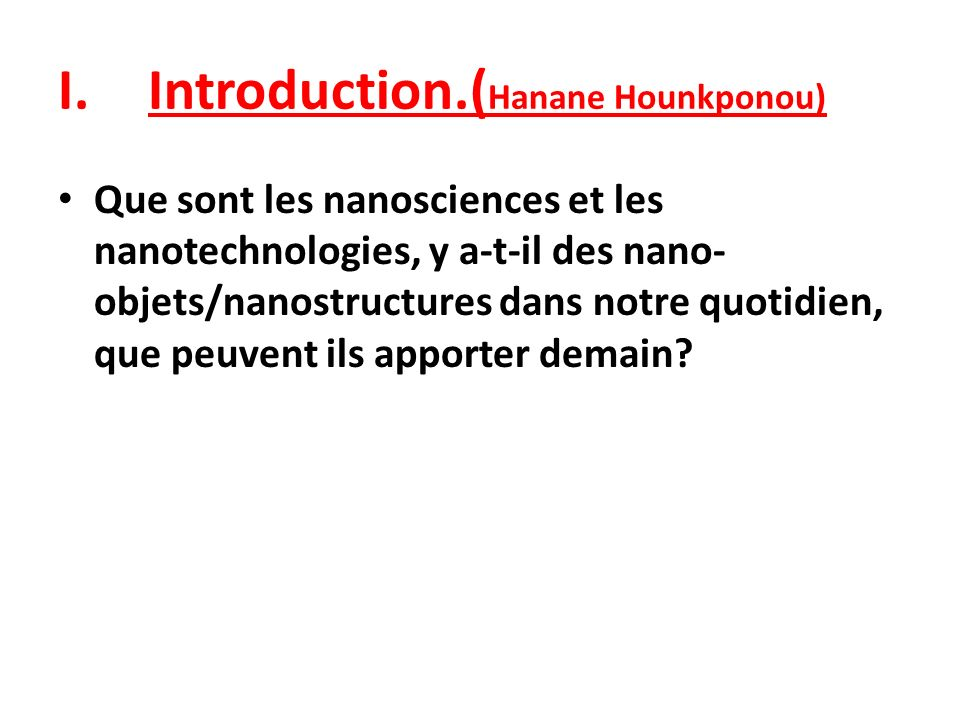 Introduction.(Hanane Hounkponou)