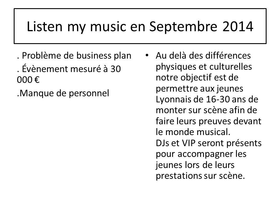 Listen my music en Septembre 2014