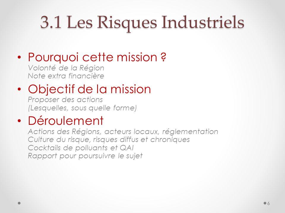 3.1 Les Risques Industriels
