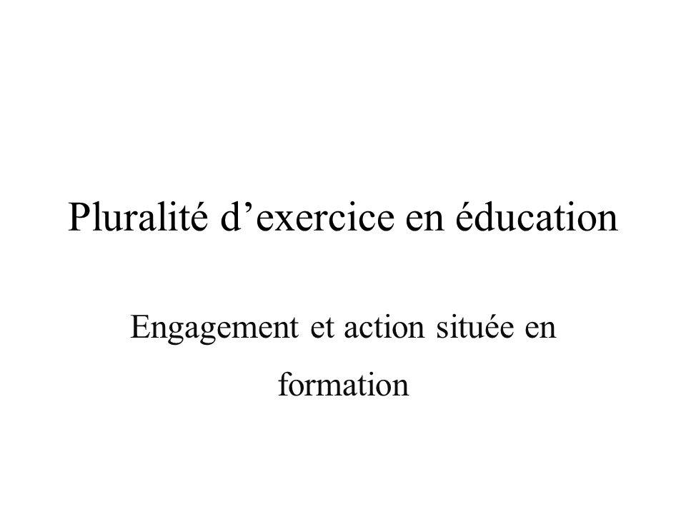 Pluralité d'exercice en éducation