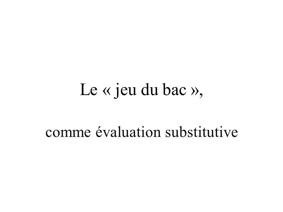 comme évaluation substitutive