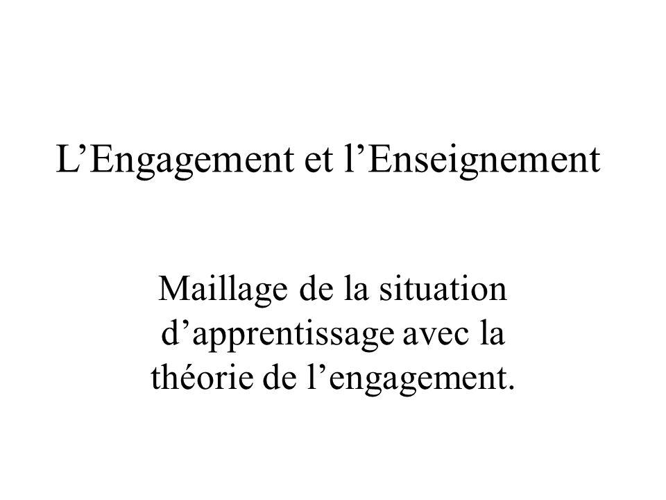 L'Engagement et l'Enseignement