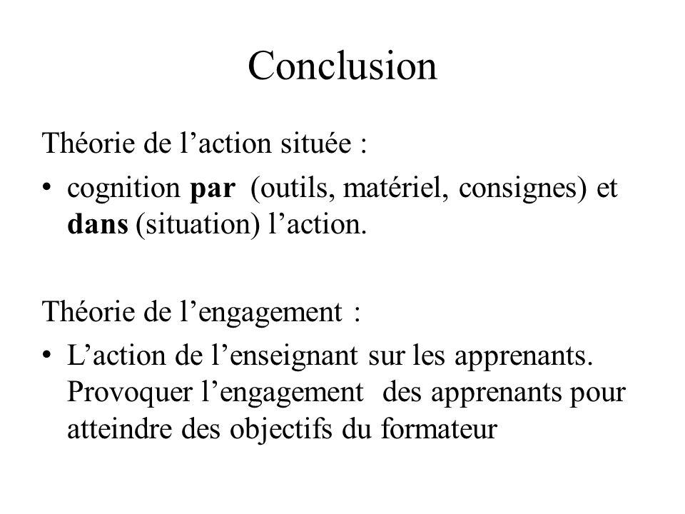 Conclusion Théorie de l'action située :