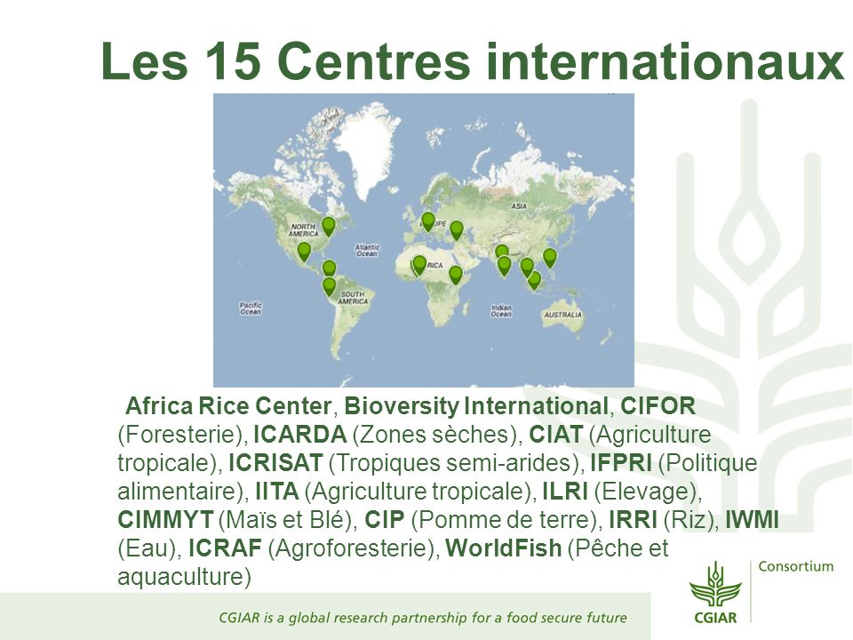 Les 15 Centres internationaux