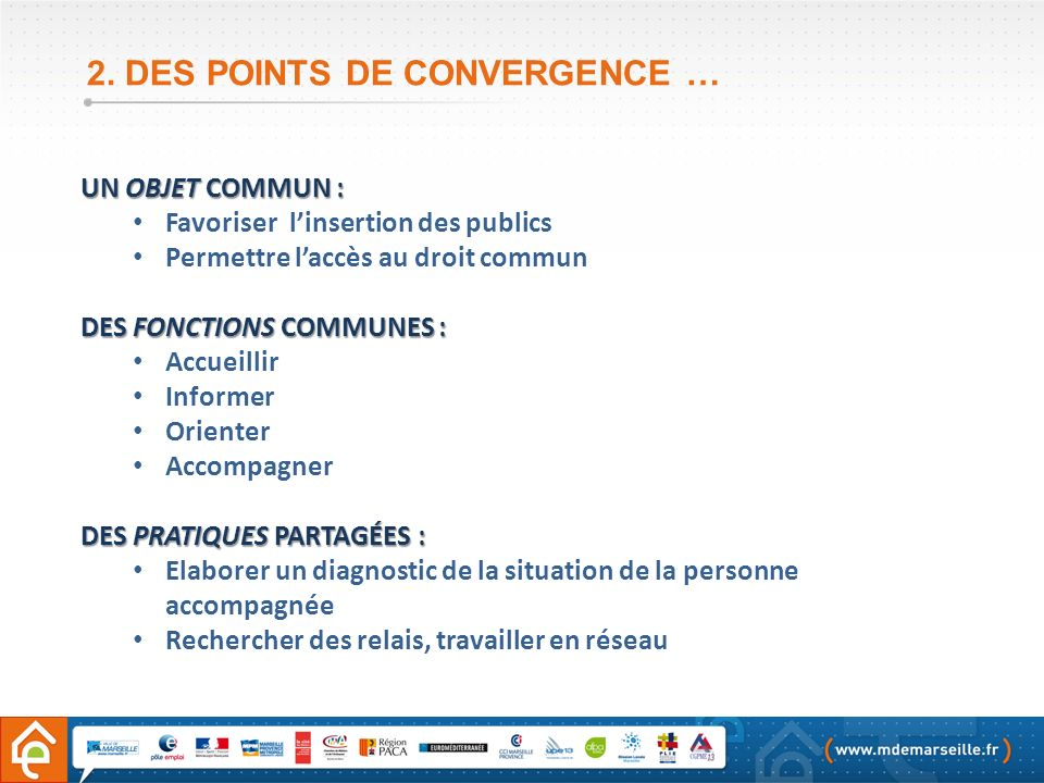2. DES POINTS DE CONVERGENCE …