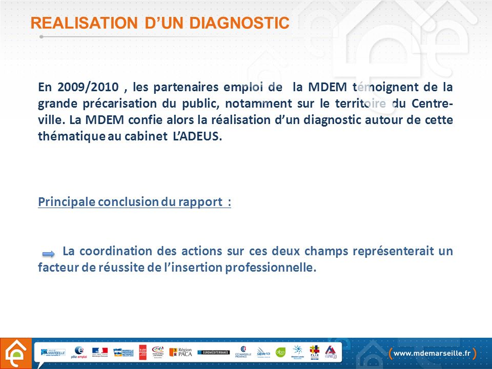 REALISATION D'UN DIAGNOSTIC