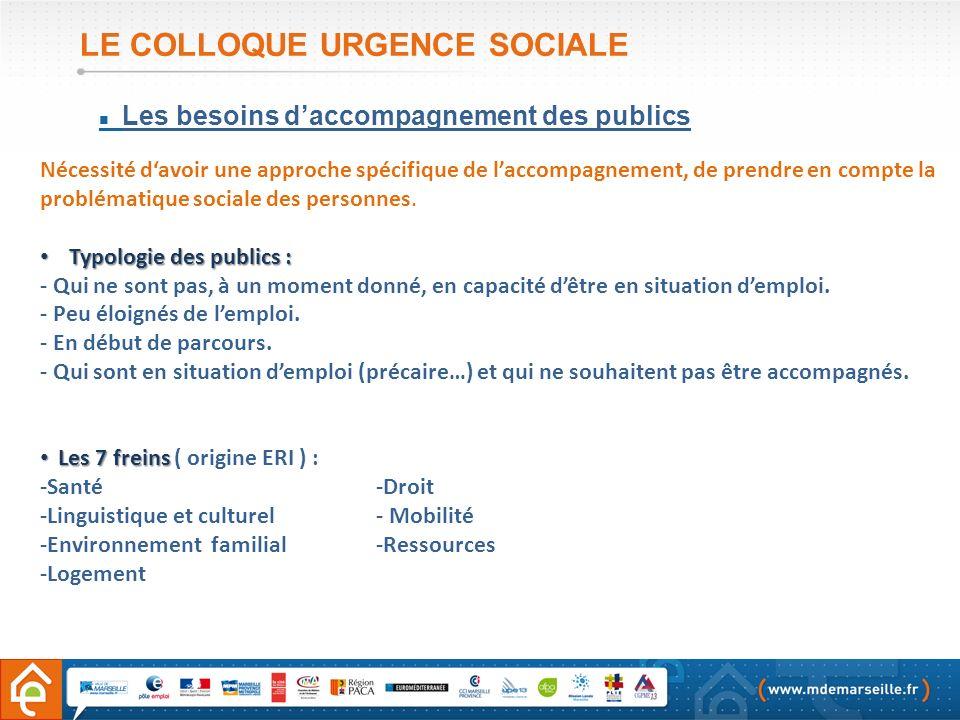 LE COLLOQUE URGENCE SOCIALE