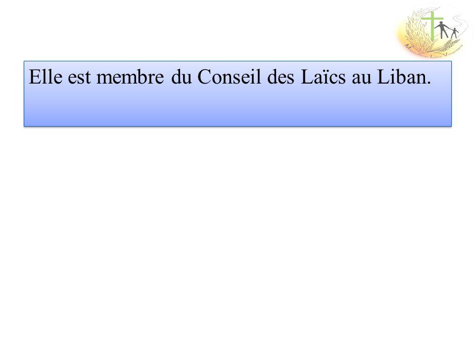 Elle est membre du Conseil des Laïcs au Liban.