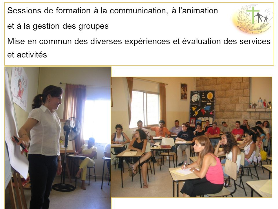 Sessions de formation à la communication, à l'animation