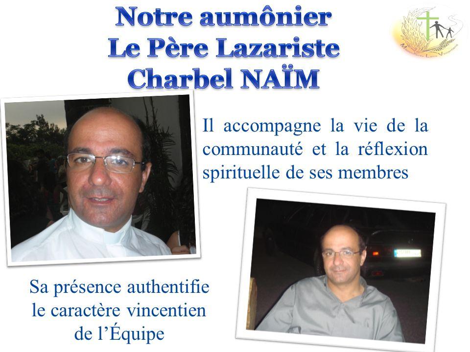 Notre aumônier Le Père Lazariste Charbel NAЇM