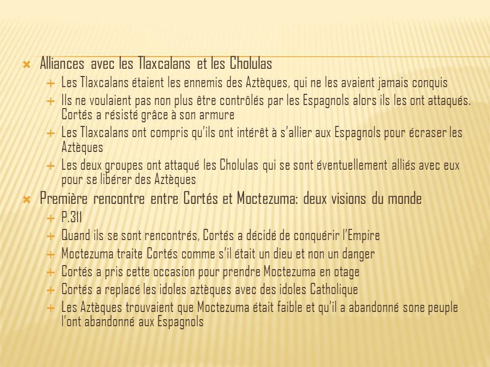 Alliances avec les Tlaxcalans et les Cholulas