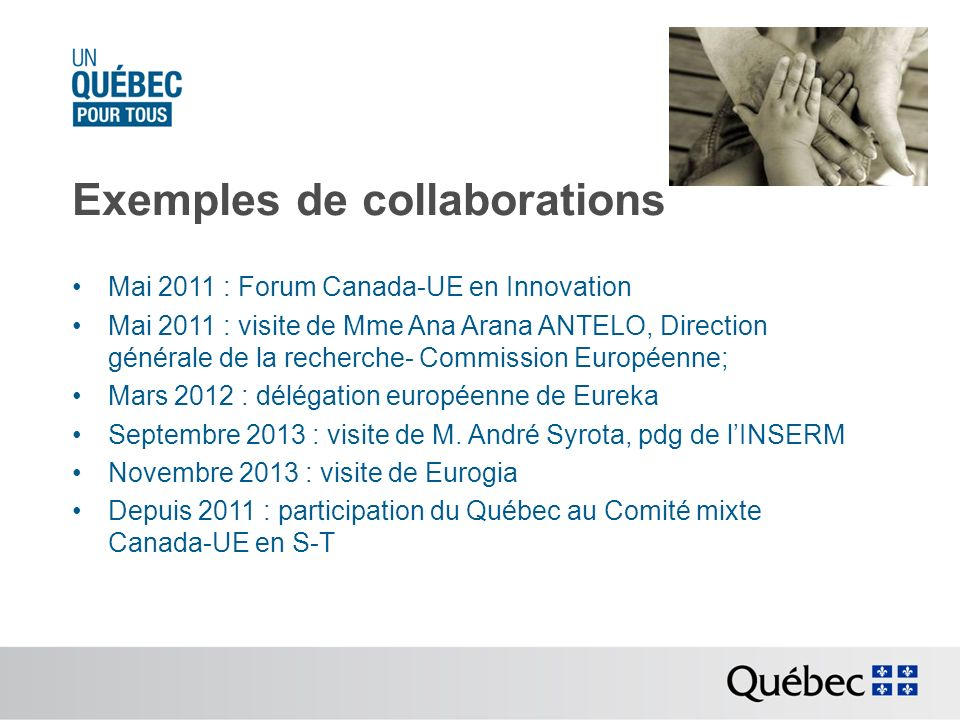 Exemples de collaborations