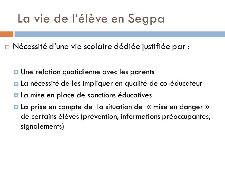 La vie de l'élève en Segpa