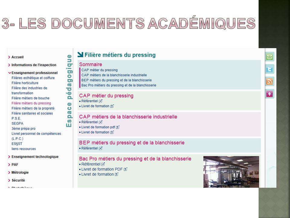 3- les documents académiques