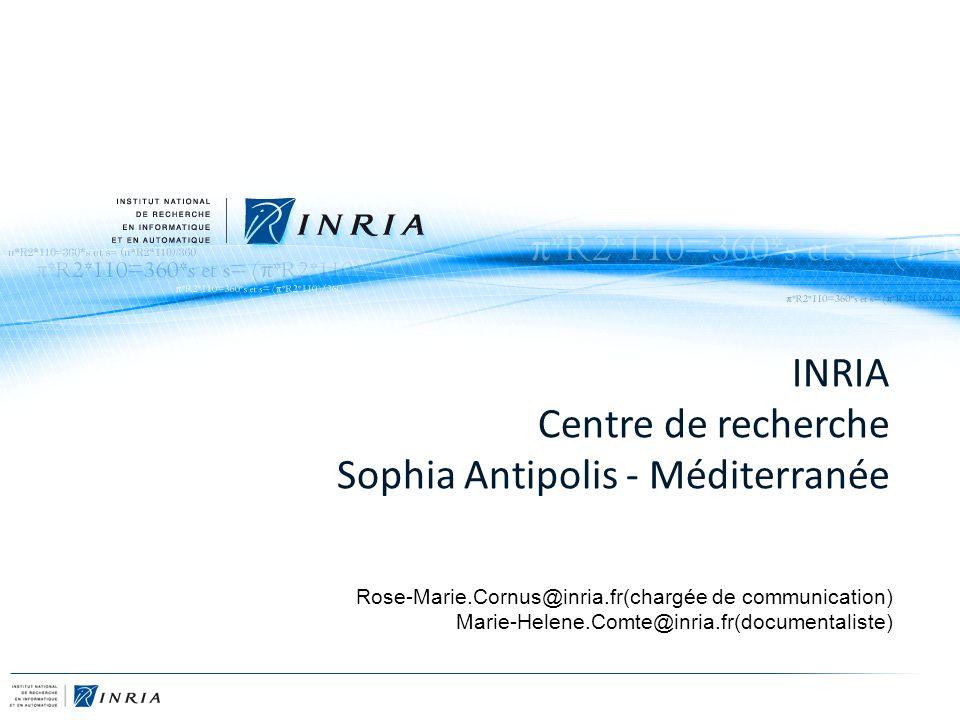 INRIA Centre de recherche Sophia Antipolis - Méditerranée