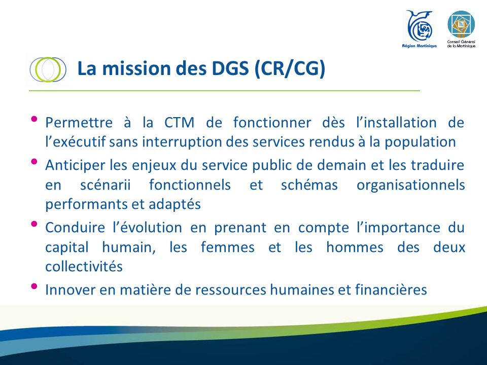 La mission des DGS (CR/CG)