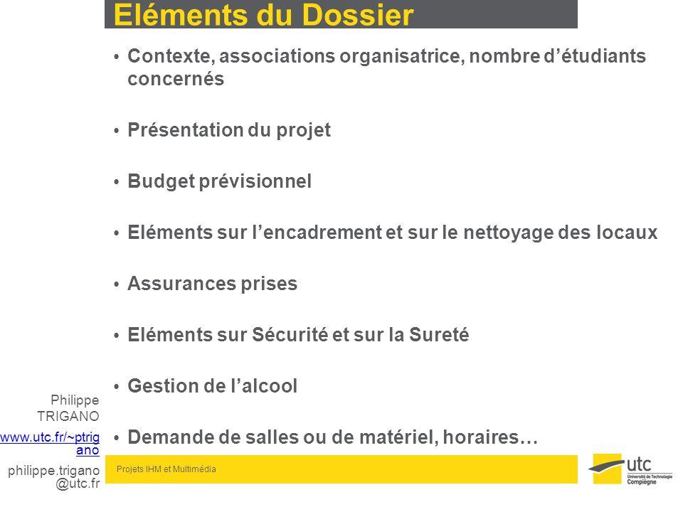 Eléments du Dossier Contexte, associations organisatrice, nombre d'étudiants concernés. Présentation du projet.