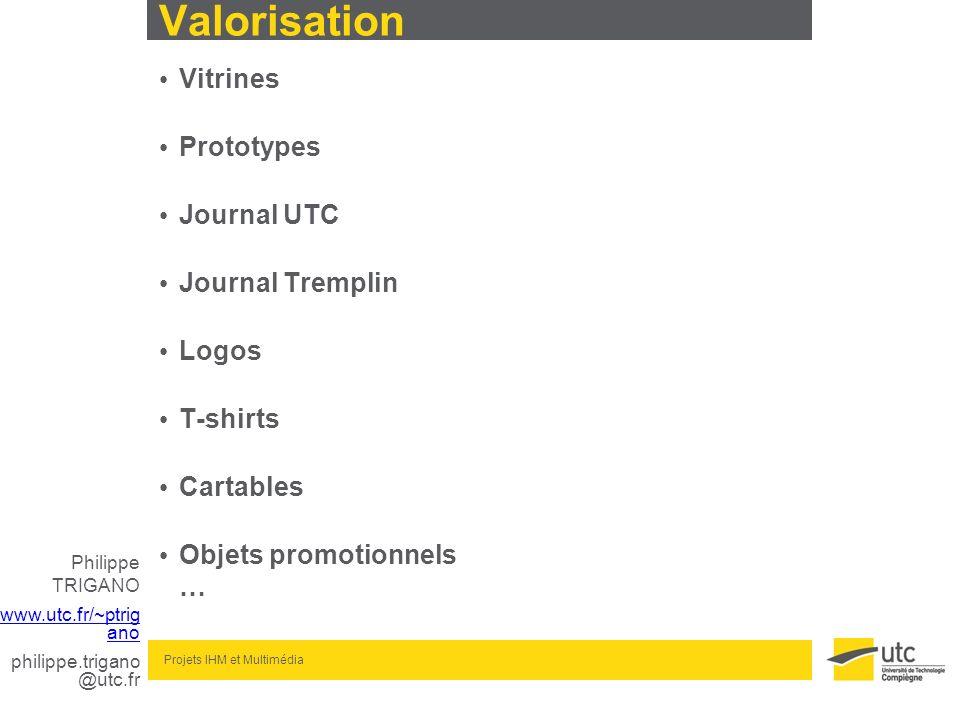 Valorisation Vitrines Prototypes Journal UTC Journal Tremplin Logos