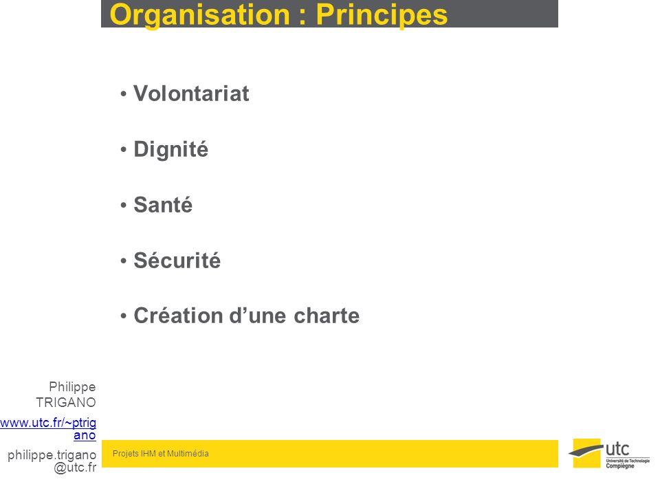 Organisation : Principes