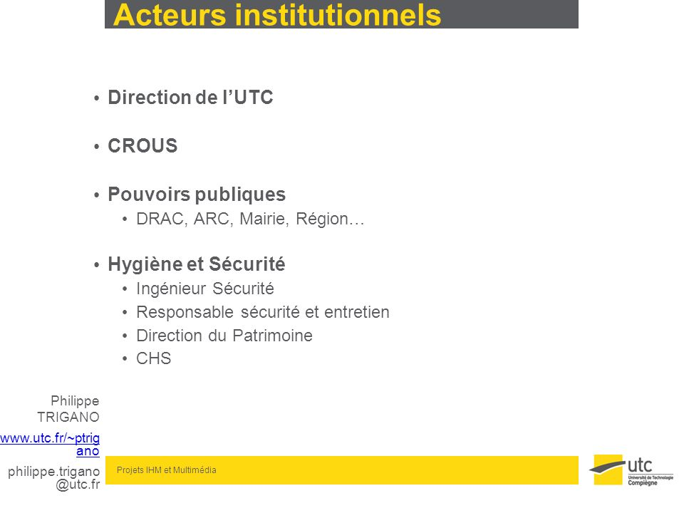Acteurs institutionnels