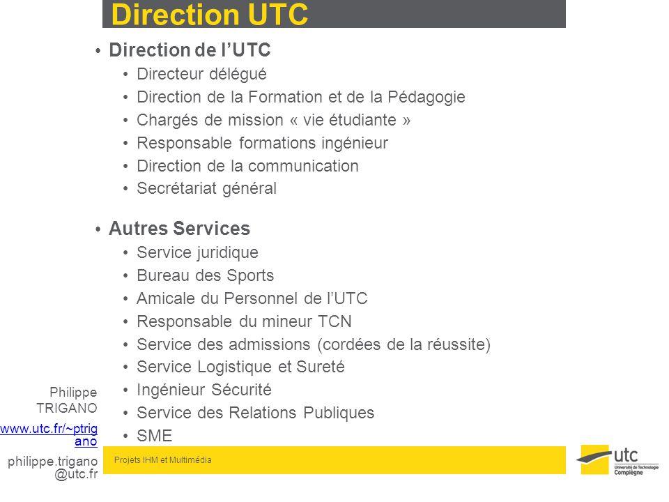 Direction UTC Direction de l'UTC Autres Services Directeur délégué