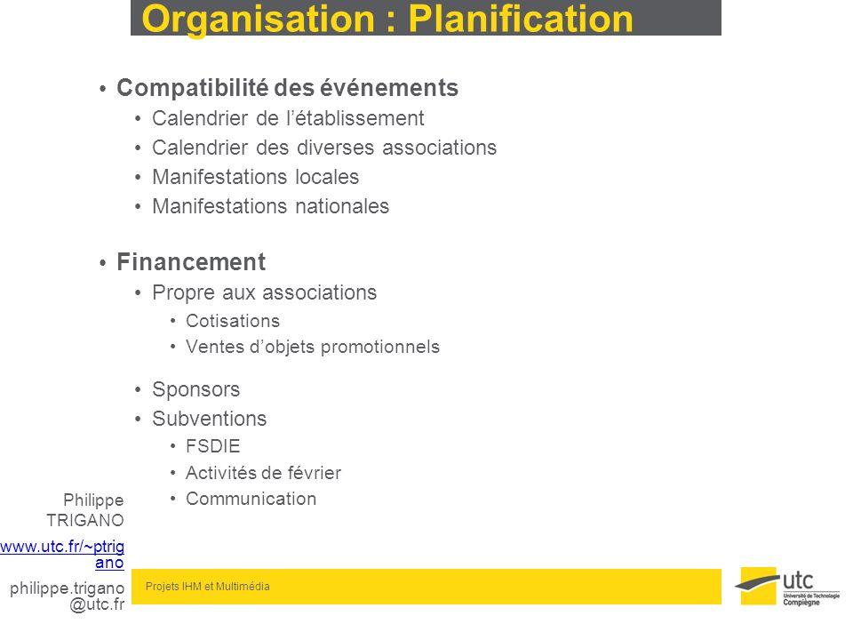 Organisation : Planification