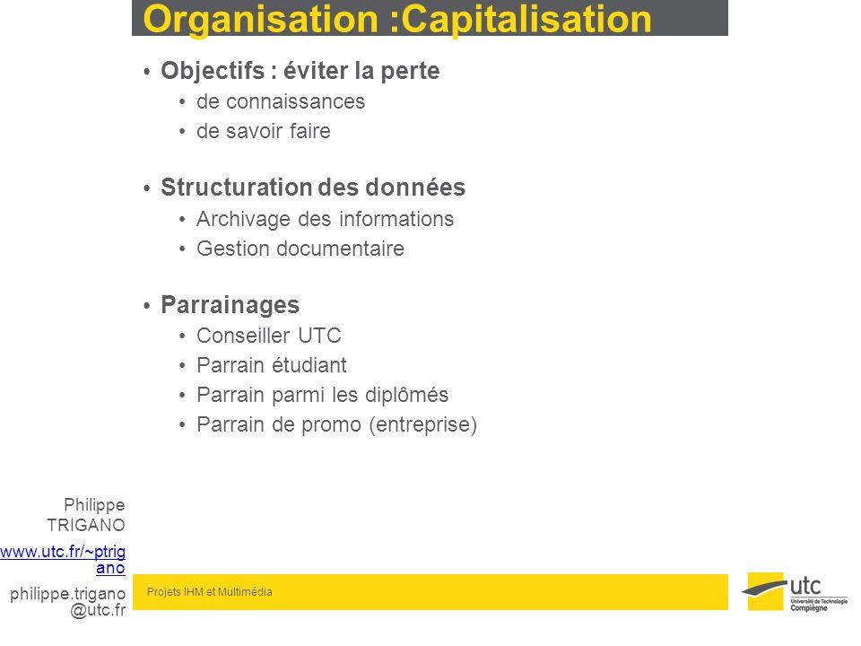 Organisation :Capitalisation