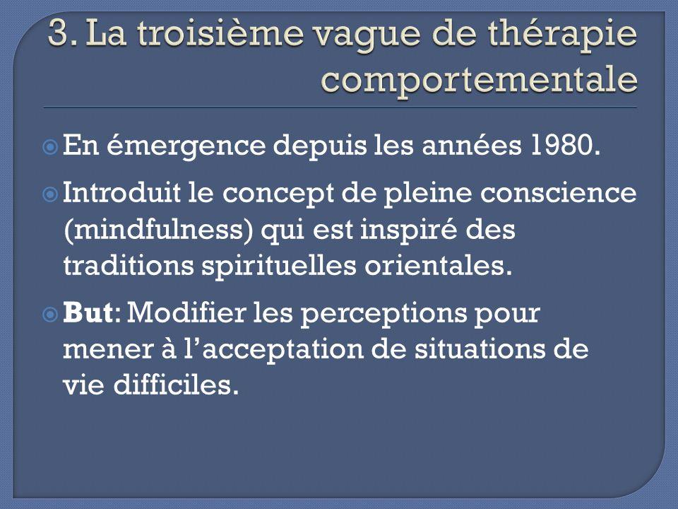 3. La troisième vague de thérapie comportementale