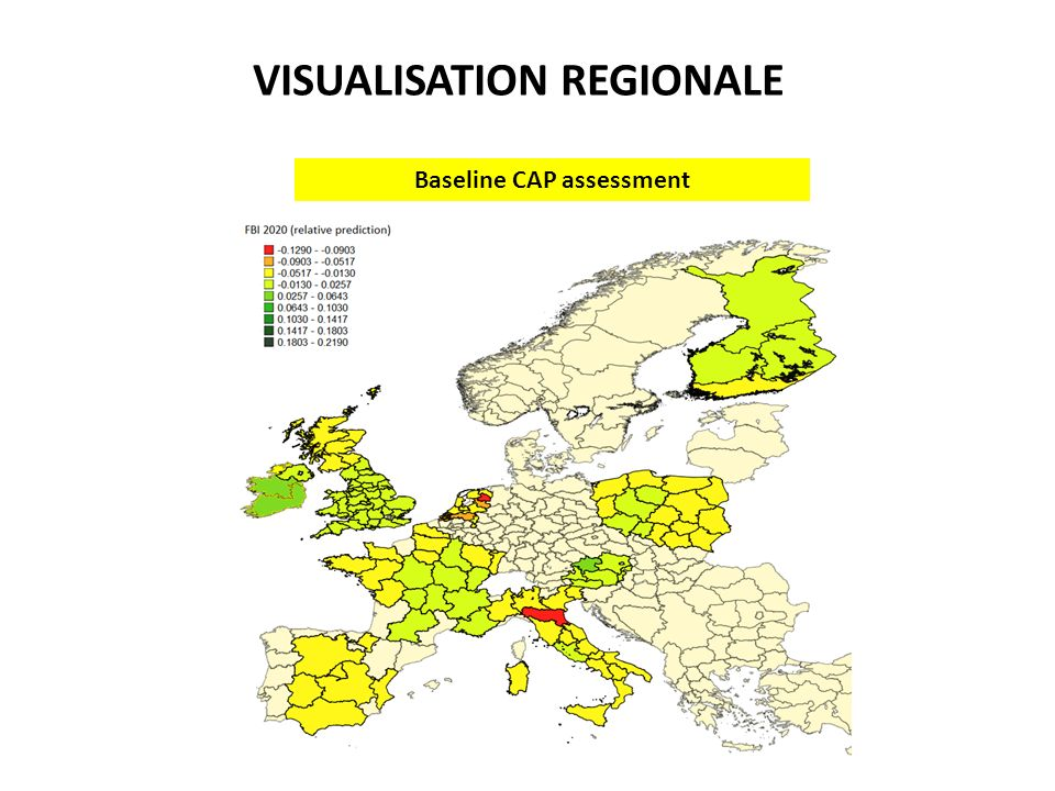 VISUALISATION REGIONALE Baseline CAP assessment