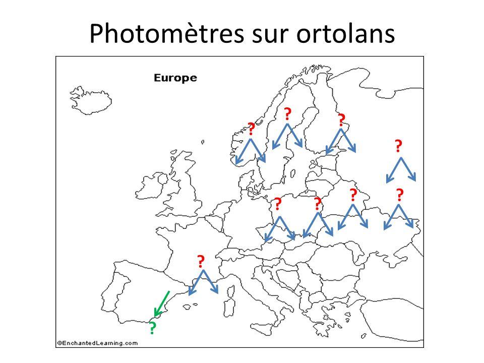 Photomètres sur ortolans