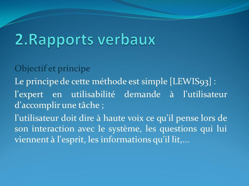 2.Rapports verbaux Objectif et principe
