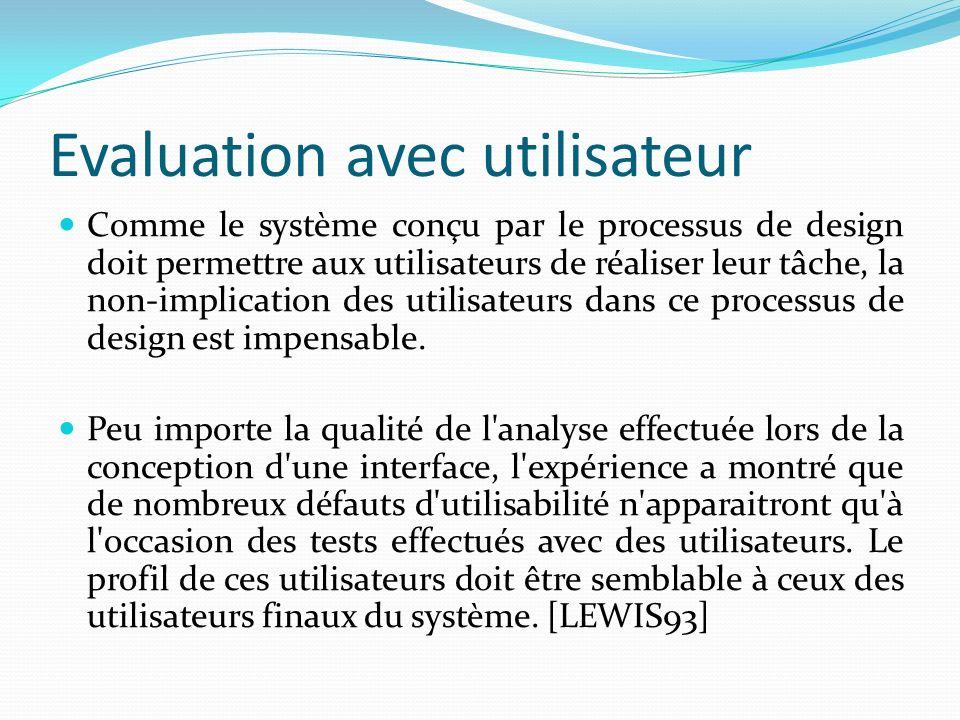 Evaluation avec utilisateur