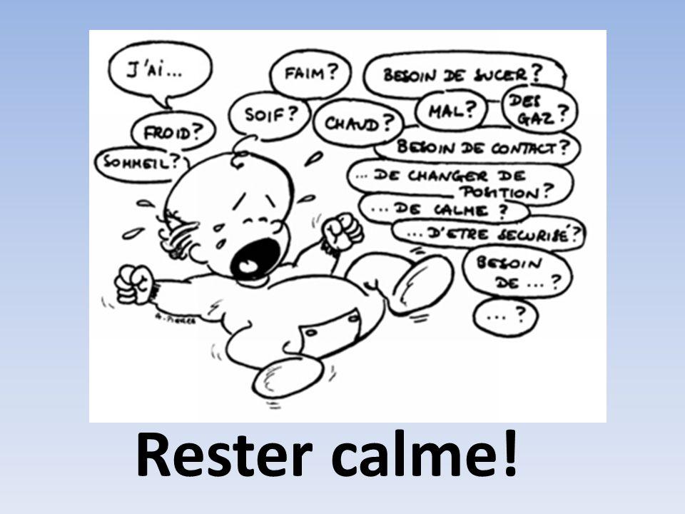 Rester calme! Les coliques Fréquentes entre 3 semaines et un mois.