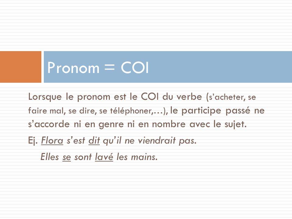 Pronom = COI